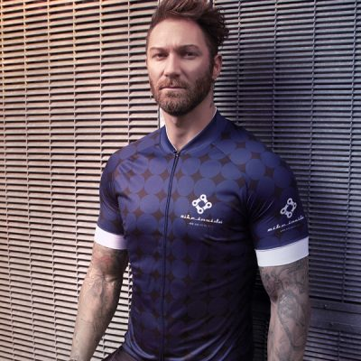 Rounded blue jerseys by Bike Inside