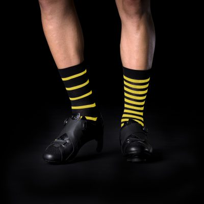 Mismatched cycling socks by Bike Inside