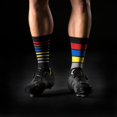 Mismatched cycling socks by Bike Inside